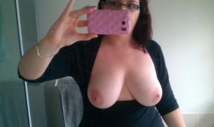selfie de gros seins